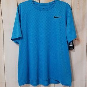 Nike Blue Breathe DriFit Fabric Training Tee Shirt